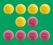 10 Foosballs: 5 Red Textured & 5 Yellow Textured Table Soccer Balls