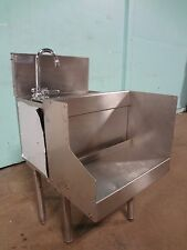 """"""" Glas Tender """" Commercial Modular Under Counter S.S. Bar Wash Sink w/Faucet,"""