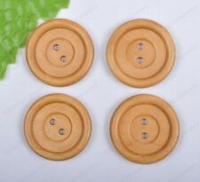 20Pcs wheat color Wood Sewing 2holes Buttons 30MM DIY FINDINGS