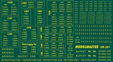 MODELMASTER BR241 BR SOUTHERN EMU NUMBERS 1948-65 DECALS / WATERSLIDE TRANSFERS