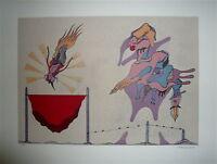 CAMACHO Jorge Lithographie signée surréaliste art abstrait artiste Cubain Cuba