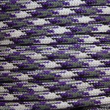 Purple Camo Paracord 50 Foot 550 lb Bracelet Camping Survival Kit Rope