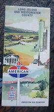 1961  Long Island Westchester County  road map American  oil gas New York