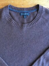 Banana Republic Mens Sweater Extra Fine Italian Merino Wool Burgundy Size L B6