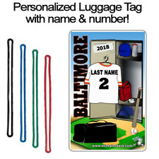 Personalized Baltimore Baseball Luggage Tag