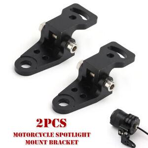 2PCS Motorcycle Spotlight Mount Bracket 10mm Universal Handlebar Rearview Base