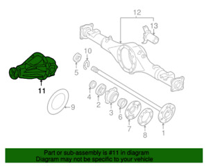 OEM TOYOTA TUNDRA 2005-2006 REAR DIFFERENTIAL ASSEMBLY (#11 IN DIAGRAM ONLY)