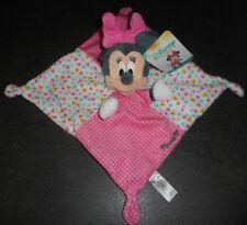Doudou Plat Carré Souris Minnie Rose Pois Blanc Triangles Disney Nicotoy Neuf