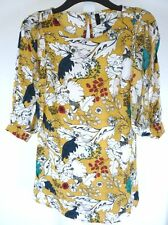 BEAUTIFUL MULTICOLOURED FLORAL TUNIC TOP / DRESS - Size 12