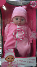 Lissy Babypuppe Spielpuppe ca 40 cm mit Soundfunktion , 6 Babygeräusche ,NEU,OVP
