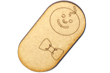 Wooden MDF Happy Baby Shapes Bunting Craft Embellishment Baby Decorations