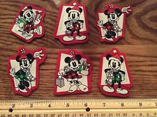 Disney Christmas Mickey & Minnie Mouse Fabric Iron On Appliqués (style#1) CUTE!