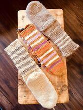 100 % Raw Lamb Wool Socks*NO Artificial Dye*Hand Knitted*Unisex*