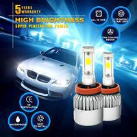 2 H11 H8 H9 CREE LED Fog Light Conversion Kit Premium 6000K wHITE 350W DRL Lamps
