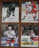 Lot of 4 Autographed NY Rangers 8x10 Photos  Dillon Rogers Rozsival Stevens