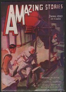 Amazing Stories 1937 June.   Pulp