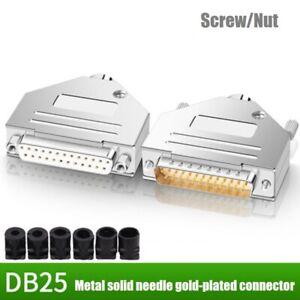 DB25 Welding Head2Row25pin Hole Head DB25 Male Head Female Head Gold-plated Plug
