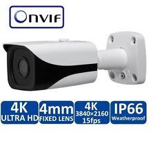 8MP 4K IP Weatherproof Bullet Security Camera 98' IR Night Vision 4mm Lens POE