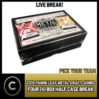 2019 LEAF METAL DRAFT JUMBO FOOTBALL 4 BOX 1/2 CASE BREAK #F170 - PICK YOUR TEAM