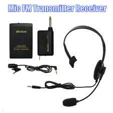 VHF Stage Wireless Headset Microphone System Mic FM Transmitter Receiver NEW