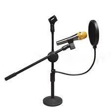 DoubleLayer Recording Studio Microphone Mic Wind Screen Pop Filter Mask Shield &
