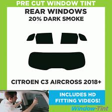 CITROEN C3 PICASSO 2009 20/% DARK REAR PRE CUT WINDOW TINT