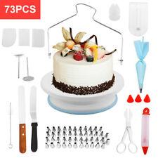 73 Pcs Baking Supplies Kit DIY Cake Cupcake Decorating Icing tips Set Tools New