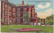 "Erie PA ""Soldiers and Sailors Home"" Linen Postcard Pennsylvania  *FREE US SHIP"