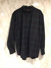 NWOT Pendleton Sz L Fireside Wool Blue Green Black Watch Tartan Plaid Shirt