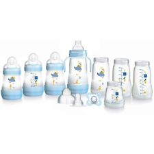 MAM ANTI-COLIC SELF STERILISING NEWBORN STARTER BOTTLE SET - BLUE - NEW