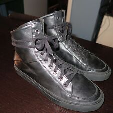 DAMIR DOMA SILENT Black Leather High-Top Sneakers Sz 40 = 7us