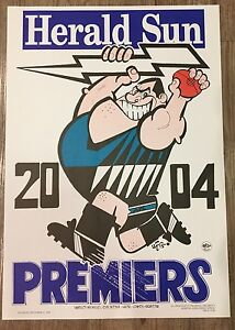 2004 Port Adelaide Power Premiers Poster Original WEG