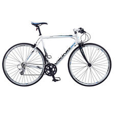 VIKING PALERMO MENS FLAT BAR ROAD RACING BIKE 700C WHEEL ALLOY 53CM FRAME WHITE