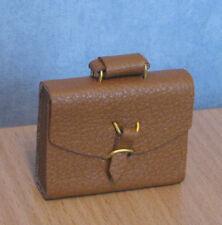 1/12, Dolls House miniature Brief Case / briefcase Brown Luggage Bedroom LGW BN