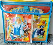 Soft Play Noah's Ark 3-D Felt Playset Book Storage Carrying Case 25 Pcs. (VGUC)