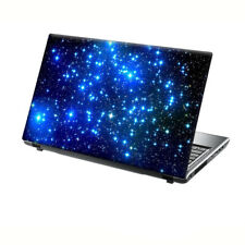 "TaylorHe 13-14"" Laptop Skin Vinyl Sticker Decal Blue Stars Nebula Space"