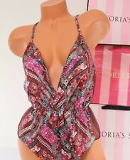 Victoria's  Secret Teddy Romper Cross Back Straps Lingerie Small