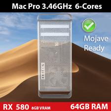 Mac Pro 3.46Ghz 6-Core | 64GB RAM | 480GB SSD +1TB HDD | AMD RX 580 8GB | USB 3