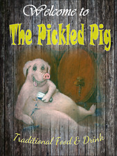 Pickled Pig Funny bar sign pub retro mancave man gift fathers day free postage