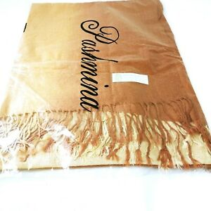 David Sanderson Pashmina Scarf Scarve Copper Gold FREE UK DELIVERY
