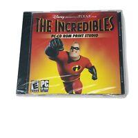 The Incredibles PC-CD ROM Print Studio Disney Pixar (Win 98/Me/XP) Computer Game