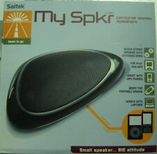 My Spkr Saitek A-100 Personal Stereo Speakers Great for MP3 Portable Players NEW