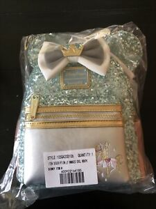 NWT Disney MMMA King Arthur's Carousel Loungefly Backpack NEW Sequin 7/12 Minnie