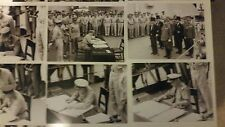 WWII PHOTO COLLECTION FROM US NAVAL 5x7 PHOTOS  OF JAPANESE SURRENDER CEREMONY