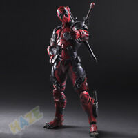 Play Arts Kai Deadpool Wade Winston Wilson X men 1/6 PVC Figure Model Toy in Box