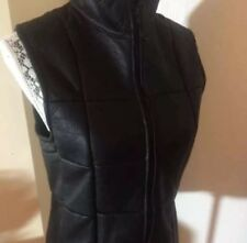 Black lamb wool skin vest