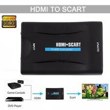 CONVERTITORE DA HDMI A SCART ADATTATORE 1080P FULL HD VIDEO AUDIO STEREO TV