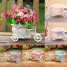 Rattan Flower Basket Vase Tricycle Bicycle Model Garden Wedding Party Decor Bush