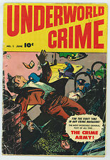 Underworld Crime #1 2.0 Fawcett Off-White Pages Golden Age