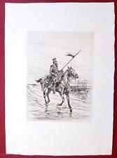 Eau-forte originale, Le cavalier, Détaille, Cadart, XIXe